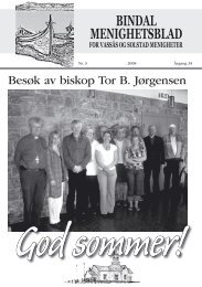 Menighetsbladet nr 3-2008 - Bindal kommune