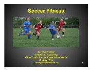 Soccer Fitness - Ohio Youth Soccer Association North