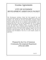 License Agreements - City of Gunnison