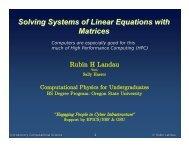 Slides (pdf) - Physics at Oregon State University