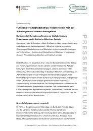 11. Dezember 2012 Pressemitteilung - Lesen und Schreiben – Mein ...
