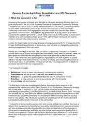 Coventry Partnership Inform, Consult & Involve Framework