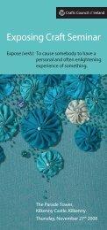 Exposing Craft Seminar - Crafts Council of Ireland