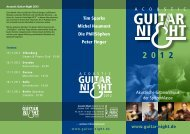 Flyer (PDF) - Acoustic Guitar Night 2012