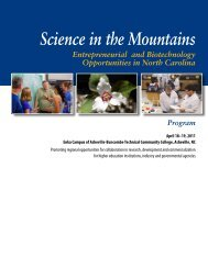 Science in the Mountains 2011 - North Carolina Biotechnology Center