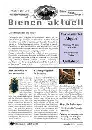 Bienen-aktuell Nr. 24 - Liechtensteiner Imkerverein