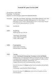 Protokoll MV grüne Uni 30.11.2009 TOP1: Begrüßung TOP2 ...