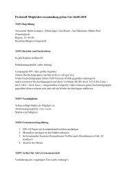 Protokoll Mitgliederversammlung grüne Uni 26.08.2010