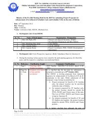 Minutes of the Pre-Bid meeting held on 24.9.12 - Stscodisha.gov.in