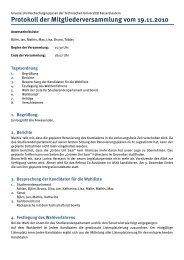 Protokoll der Mitgliederversammlung vom 19.11.2010