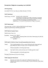 Protokoll der Mitgliederversammlung vom 12.08.2010