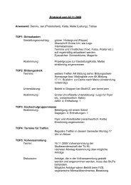 Protokoll vom 02.11.2009 Anwesend: Dennis, Jan (Protokollant ...