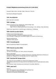 Protkoll Mitgliederversammlung Grüne Uni 19.04.2010 TOP3 Anträge