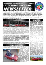 Newsletter New Style Feb - Alfa Romeo Owners Club