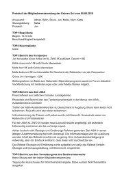 Protokoll der Mitgliederversammlung der Grünen Uni vom 05.08 ...