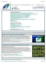 NEWSLETTER #09/11 - Spitex Verband Kt. Zürich