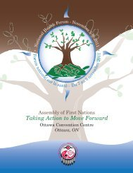 Taking Action to Move Forward - Assembly of First Nations