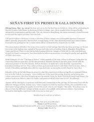 Sena En Primeur Gala Dinner 2013 - Asian Palate
