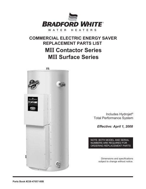 Bradford White Part Number 233-46278-03