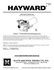 Hayward TriStar - Home - Swimming Pool Parts Filters Pumps ...