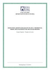 INNOVATION, GROWTH AND QuALITy OF LIFE: A THEORETICAL ...