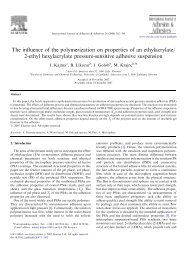 The influence of the polymerization on properties of an ethylacrylate ...