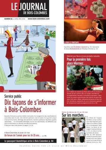 Télécharger le PDF du journal - Bois-Colombes