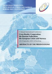 Cross-Border Cooperation: the Russian Federation, the European ...