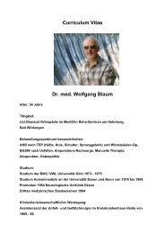 Curriculum Vitae - MEDICLIN Reha-Zentrum am Hahnberg