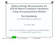 Hadron Energy Reconstruction for ATLAS Barrel ... - Calor Conference