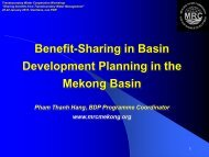 The Mekong Basin perspective - Danish Water Forum