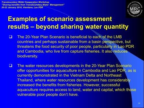 The Mekong Basin perspective - Danish Water Forum