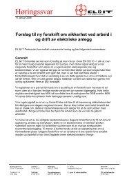 Høringssvar Forslag til ny forskrift om sikkerhet ... - El og it forbundet