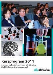 Kursprogram 2011 - Metrohm Nordic