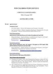 POR CALABRIA FESR 2007/2013 - Rete Pari Opportunita