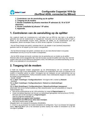 Copperjet 1616 (firmware 6.10) - InterNLnet
