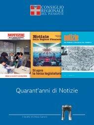Quarant'anni di Notizie - Consiglio regionale del Piemonte