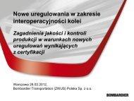 System zarządzania jakością dla przemysłu kolejowego - sirts