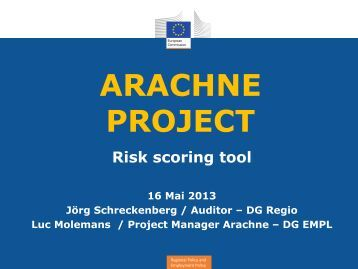 Arachne - Risk Scoring Tool - Interact
