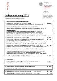 Umlagenordnung 2012 - Kammer der Architekten und ...