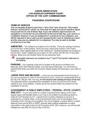 public notice - Superior Court of California - County of Los