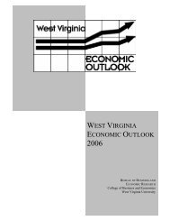 west virginia economic outlook - WVU College of Business and ...
