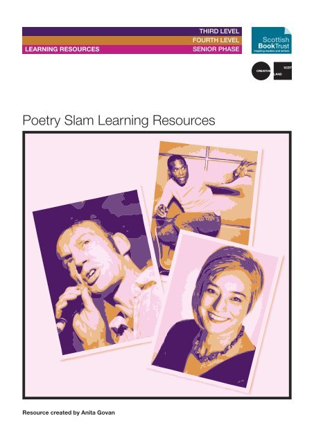 Poetry Slam Learning Resources - PDF - 8 pages - Scottish Book Trust