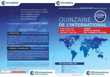 plaquette 15international.indd - CCI de l'Ardèche