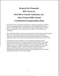 Request for Proposals RFP #2013-01 West River Transit Authority ...