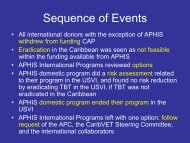 Sequence of Events - Caribvet