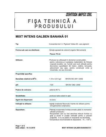 MIXT INTENS GALBEN BANANĂ 01 - Dedeman