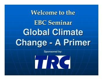 Global Climate Change - A Primer