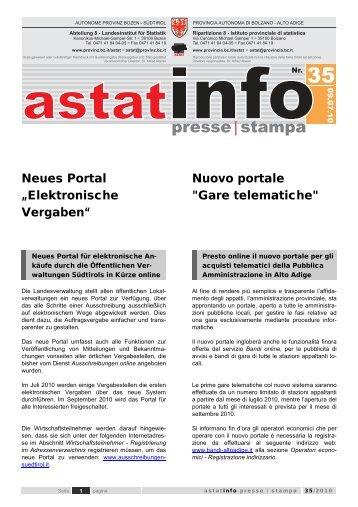 Neues Portal Elektronische Vergaben - Provincia Autonoma di ...