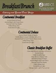 Breakfast and Brunch Buffets